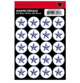 SportStar Hockey Helmet Decal Awards Blue/White Star