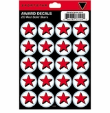 SportStar Hockey Helmet Decal Awards Red Star