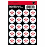 SportStar Hockey Helmet Decal Awards Red/White Star