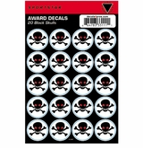 SportStar Hockey Helmet Decal Awards Skull Black