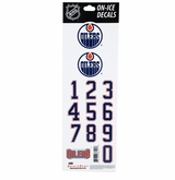 SportStar NHL All In One Helmet Decals Edmonton-Oilers
