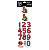 SportStar NHL All In One Helmet Decals Ottawa Senators