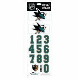 SportStar NHL All In One Helmet Decals San Jose Sharks
