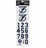 SportStar NHL All In One Helmet Decals Tampa Bay Lightning