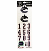 SportStar NHL All In One Helmet Decals Vancouver Canucks