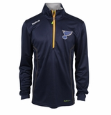 St. Louis Blues Reebok Baselayer Quarter Zip Pullover Performance Jacket