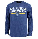 St. Louis Blues Reebok Center Ice Locker Room Sr. Long Sleeve Performance Shirt