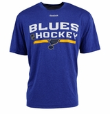 St. Louis Blues Reebok Center Ice Locker Room Sr. Short Sleeve Performance Shirt