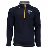 St. Louis Blues Reebok Center Ice Sr. Quarter Zip Pullover
