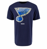 St. Louis Blues Reebok Face-Off Carbon Logo Sr. Short Sleeve Tee Shirt