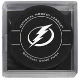 Tampa Bay Lightning Official NHL Game Puck with Cube