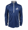Tampa Bay Lightning Reebok Baselayer Quarter Zip Pullover Performance Jacket