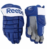 Toronto Maple Leafs Reebok HG90 Pro Stock Hockey Gloves - Holzer