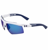 Under Armour Core 2.0 Shiny Multiflection Sunglasses - White/Blue