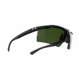 Under Armour Core Glasses - Shiny Black w/Game Day Green Multiflection