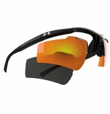 Under Armour Core Switch Satin Black Frame w/Gray & Gray/Orange Mirrored Multiflection Lens