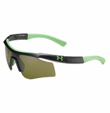 Under Armour Dynamo Youth Satin Black/Spine w/Hyper Green/Game Day Frame w/ Gray Lens