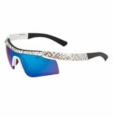 Under Armour Dynamo Youth White/Shiny White Frame w/ Gray/Blue Lens - Mutliflection