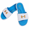 Under Armour Ignite III Boy's Slide Sandals - White/Blue