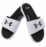 Under Armour Ignite IV Men's Slide Sandals - White/Black