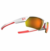 Under Armour Igniter II Shiny White Frame w/Orange Mirrored Lens - Multiflection
