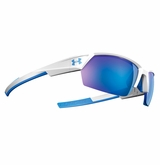 Under Armour Igniter II White/Blue Frame w/Blue Mirrored Lens - Multiflection
