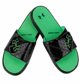 Under Armour Micro G EV II Slide Sandals - Black/Green