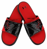 Under Armour Micro G EV II Slide Sandals - Black/Red