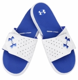 Under Armour Micro G EV II Slide Sandals - White/Team Royal