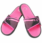 Under Armour Micro G EV II Women's Slide Sandal - Black/Pink