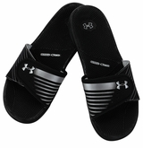 Under Armour Micro G EV II Women's Slide Sandal - Black/White/Silver