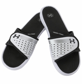 Under Armour Micro G EV II Women's Slide Sandal - White/Silver/Black
