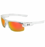 Under Armour Nitro L Multiflection Youh Sunglasses - Clear/Orange