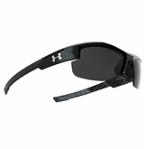 Under Armour Nitro L Youth Satin Black/Shiny Black/Battle Print Frame w/Gray Lens