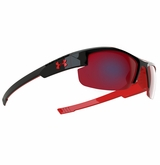 Under Armour Nitro L Youth Shiny Black/Red Frame w/Gray Infrared Lens - Multiflection