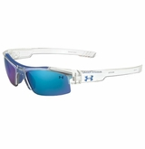 Under Armour Nitro Multiflection Youth Sunglasses - Clear/Blue