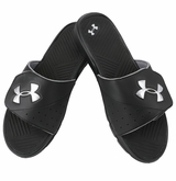 Under Armour Playmaker V Men's Slide Sandals - Black/Silver