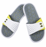 Under Armour Playmaker VI Women's Slide Sandals - White/Yellow