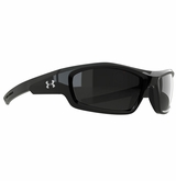 Under Armour Power Glasses - Shiny Black/Gray Lens