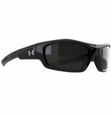 Under Armour Power Glasses - Shiny Black/Gray Polarized Multiflection