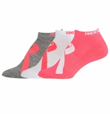 Under Armour Power in Pink Women's No Show Socks - 3 Pack