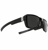 Under Armour Recon Glasses - Shiny Black w/Shiny Silver Logo Plaque/Gray Lens