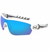 Under Armour Rival Satin Multiflection Sunglasses - White/Blue