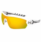 Under Armour Rival Satin Multiflection Sunglasses - White/Orange