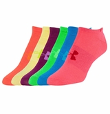 Under Armour Solid Girl's No Show Socks - 6 Pack