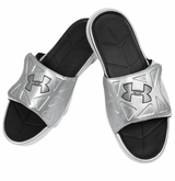 Under Armour Spine II Men's Slide Sandals - Silver/Black