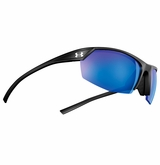 Under Armour Zone II Satin Black Frame w/Blue Mirrored Lens - Polarized