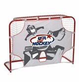 "USA Hockey 60"" Net w/ 1.25"" Posts and Shooter Target"