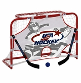 USA Hockey Mini Net Set w/ 2 Sticks, Ball, and Target