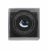 Vancouver Canucks Official NHL Game Puck with Cube